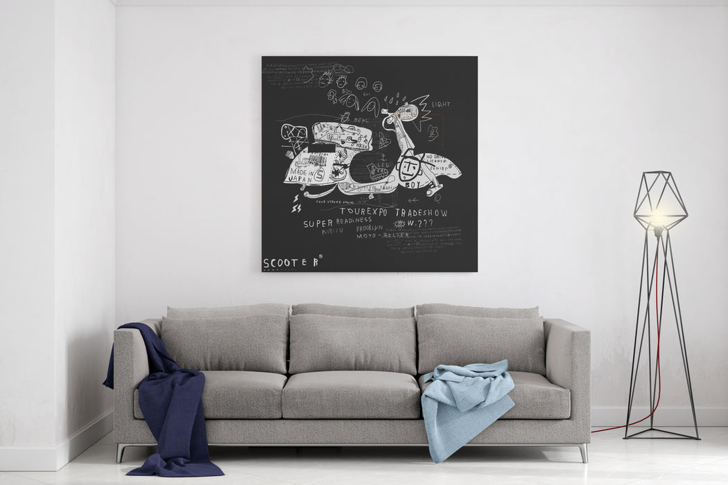 Image Scooter Which Has No Wheels Canvas Wall Art Print