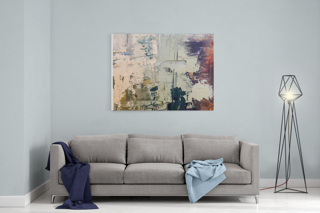 Grunge Oil Painting  Oil Painting On Canvas Black Rough Toughtexture Fragment Of Artwork Spots Of Oil Paint Brushstrokes Of Paint Modern Art Contemporary Art Canvas Wall Art Print