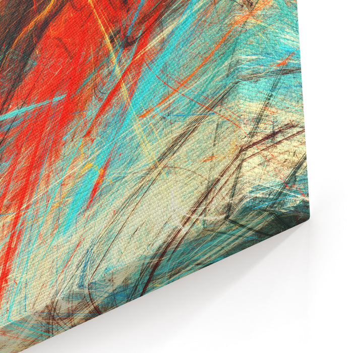 Bright Artistic Splashes Abstract Painting Color Texture Modern Futuristic Pattern Multicolor Dynamic Background Fractal Artwork For Creative Graphic Design Canvas Wall Art Print