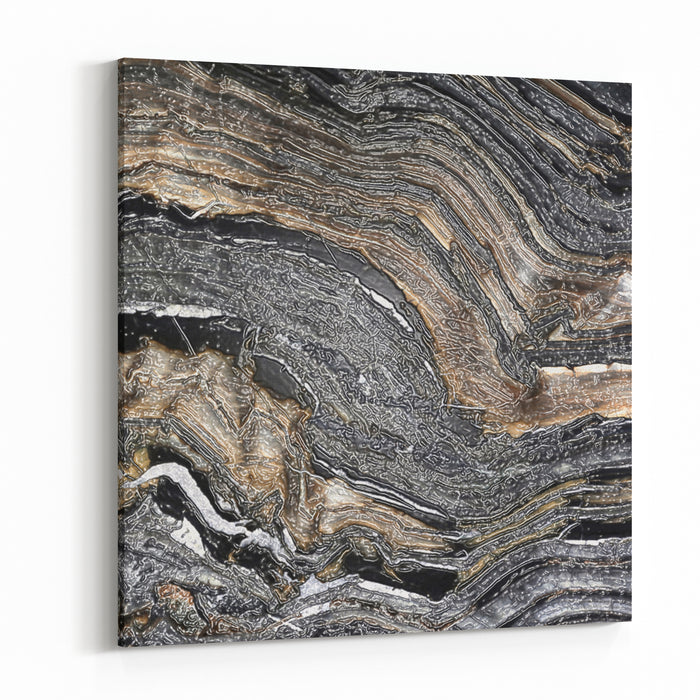Mineral, Colored Marble With Nacre Canvas Wall Art Print