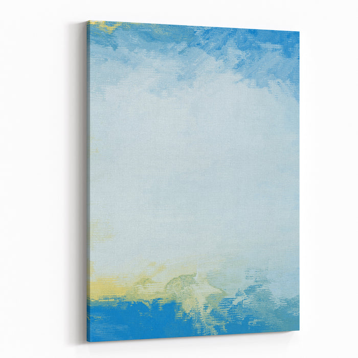 Blue Abstract Digital Painting For Background Canvas Wall Art Print
