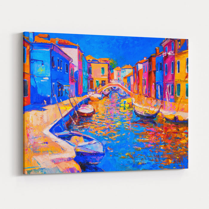 Original Oil Painting Of Beautiful Venice, Italy On Canvas Modern Impressionism Canvas Wall Art Print