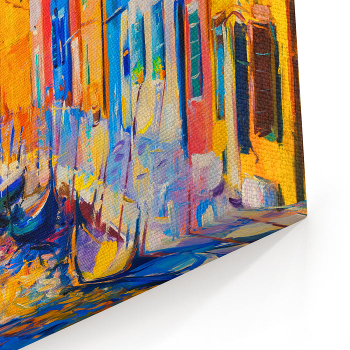 Original Oil Painting Of Beautiful Venice Italy On Canvas Modernimpressionism Canvas Wall Art Print