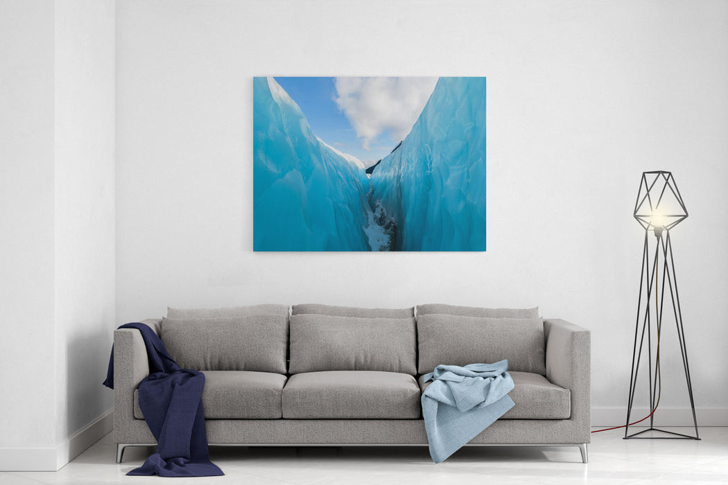 Between Ice And Sky, Fox Glacier, New Zealand Canvas Wall Art Print