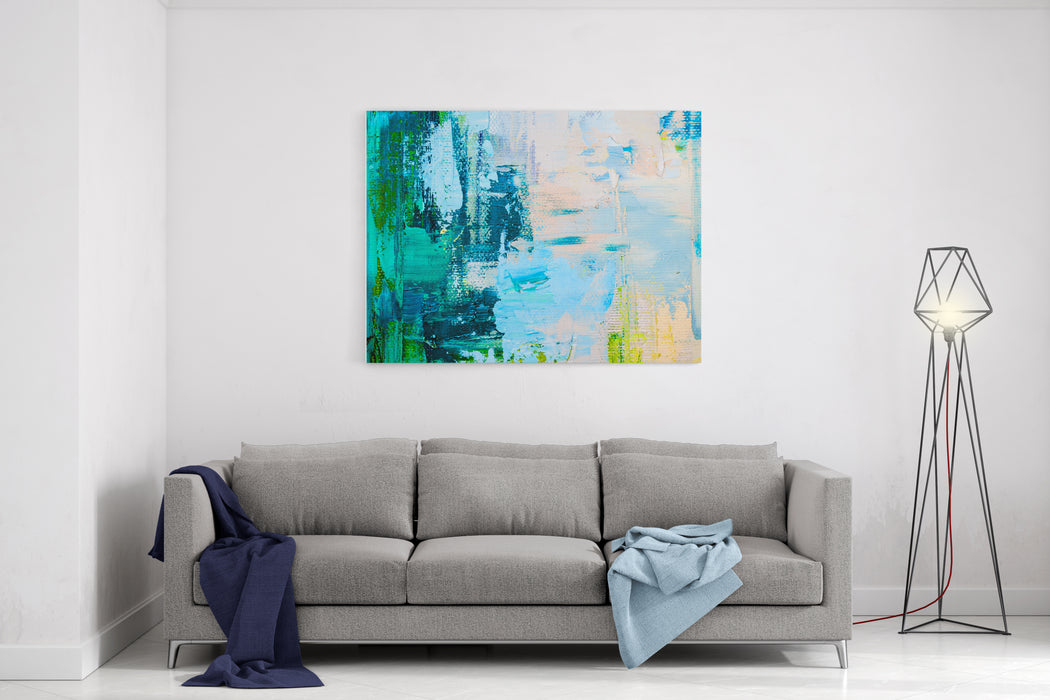 Hand Drawn Oil Painting Abstract Art  Background Oil Painting On Canvas Color Texture Fragment Of Artwork Spots Of Paint Brushstrokes Of Paint Modern Art Contemporary Art Colorful Canvas Canvas Wall Art Print