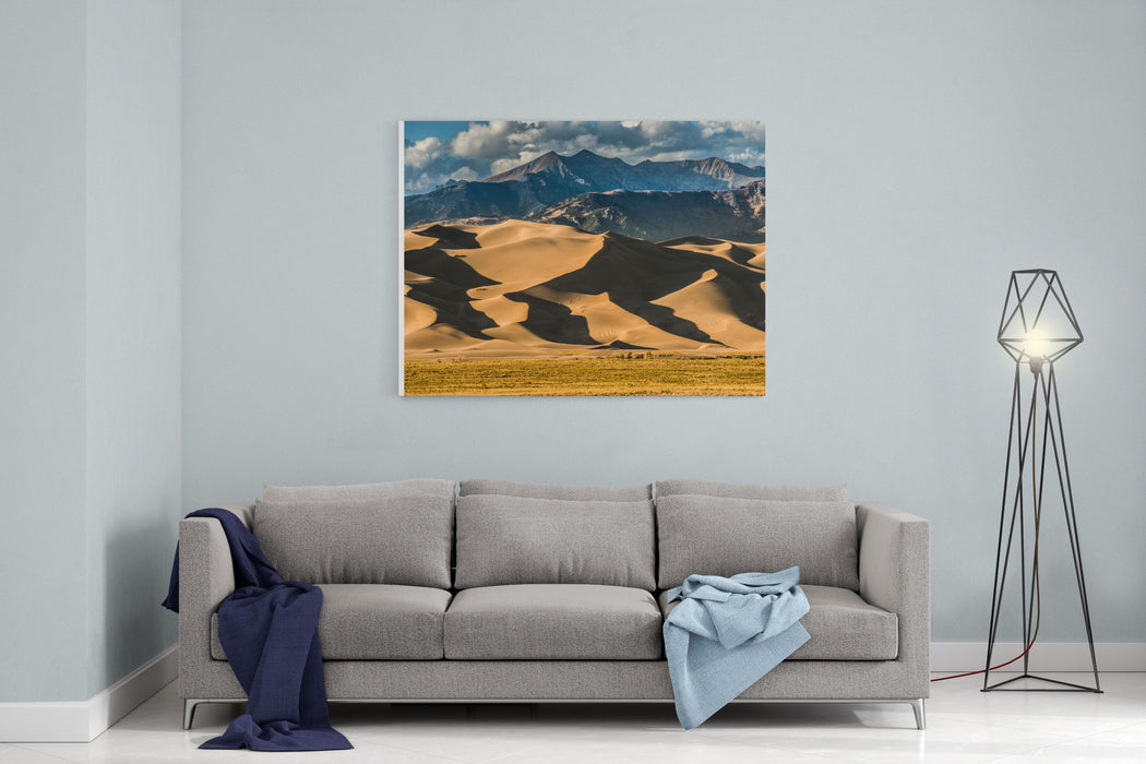 Great Sand Dunes National Park Colorado At Sunset Canvas Wall Art Print