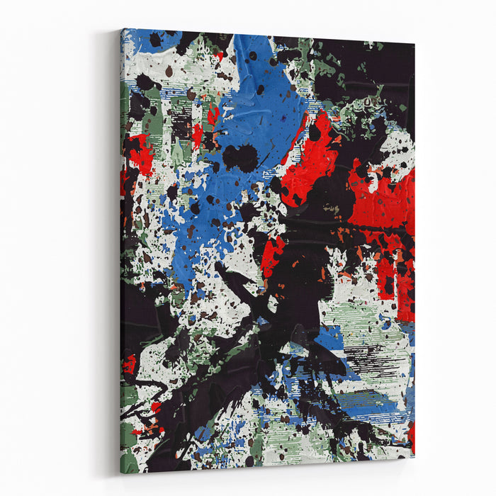Digital Collage, Abstract Painting Canvas Wall Art Print
