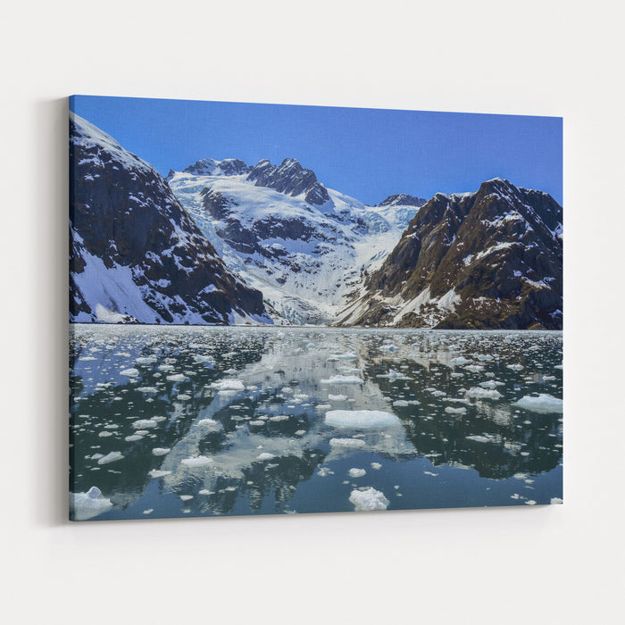 Tidewater Glacier In Kenai Fjords National Park Canvas Wall Art Print