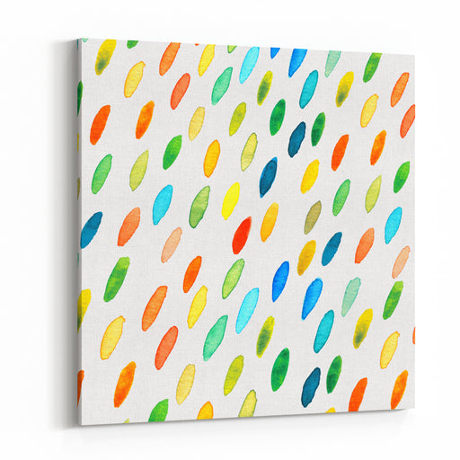 Watercolor Drops Pattern Canvas Wall Art Print
