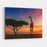 Giraffes In The Savannah At Sunset Canvas Wall Art Print