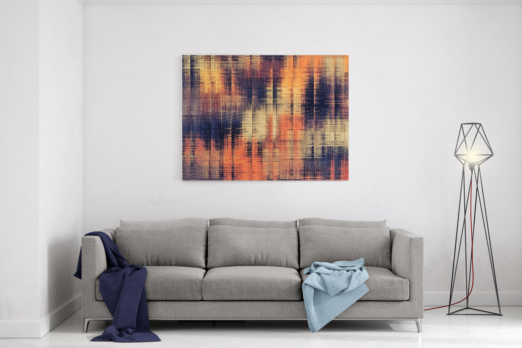 Brown Orange And Black Texture Abstract Background Canvas Wall Art Print
