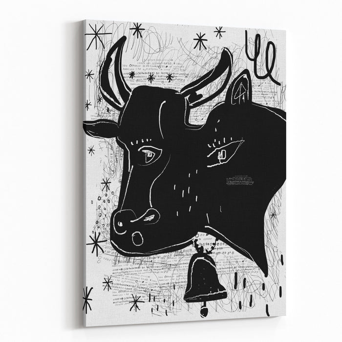 The Symbolic Image Of A Cow Canvas Wall Art Print