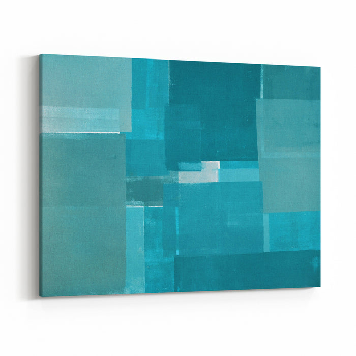 Turquoise Abstract Art Painting Canvas Wall Art Print