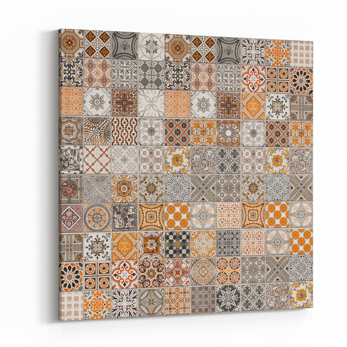 Ceramic Tiles Patterns From Portugal Canvas Wall Art Print