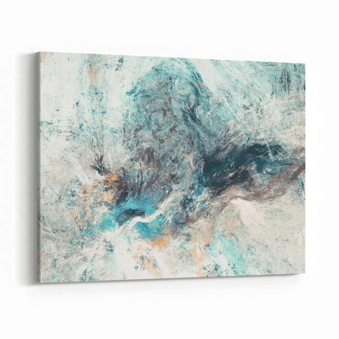 Abstract Painting Soft Color Texture Modern Artistic Background Multicolor Pattern Fractal Artwork For Creative Graphic Design Canvas Wall Art Print