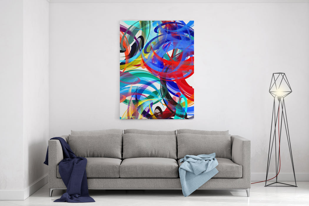 Abstract Painting Styled Background Canvas Wall Art Print
