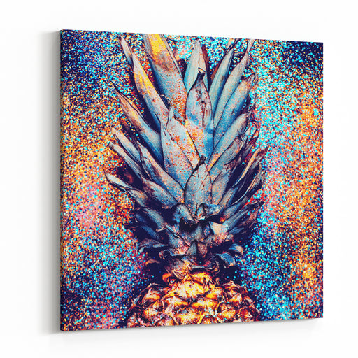 Pineapple Shine Fashion Minimalism Style Canvas Wall Art Print