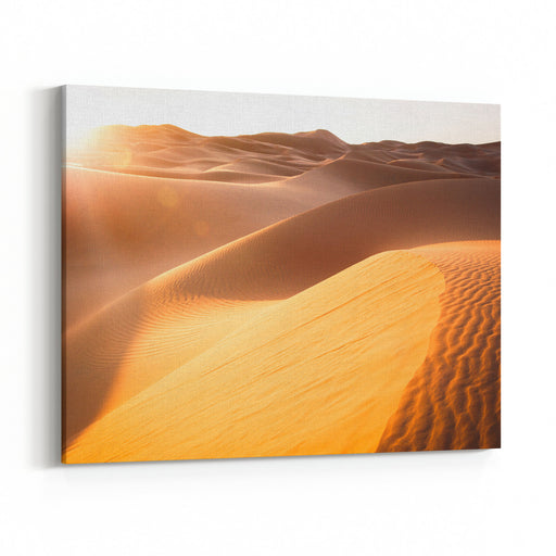 Beautiful Sand Dunes In The Sahara Desert Canvas Wall Art Print