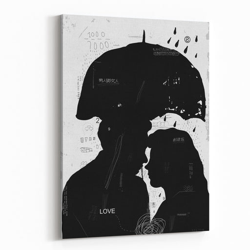 The Symbolic Image Of A Man And A Woman Who Love Each OtherTranslation From Chinese   Male And Female  Creating A Family Canvas Wall Art Print