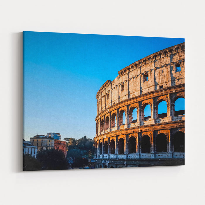 Colosseum In Rome In Rome, ITALY Canvas Wall Art Print