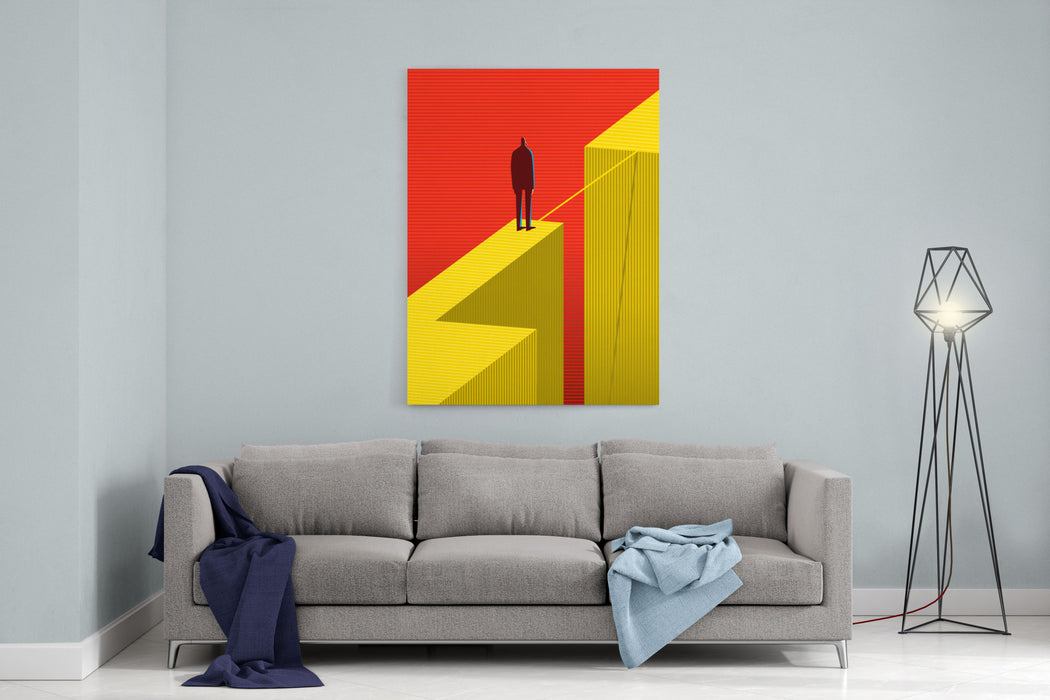 Cross Other Side Canvas Wall Art Print