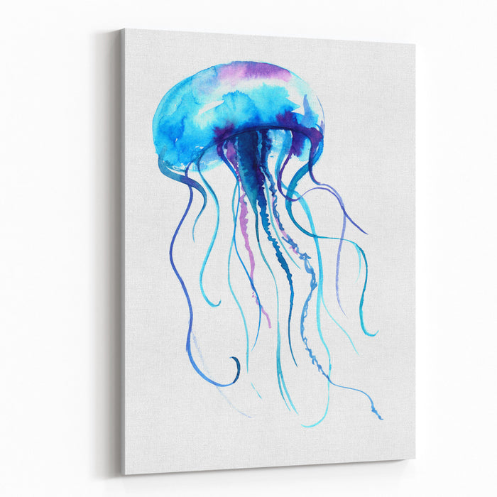 8ccd02366 Jellyfish Watercolor Illustration Medusa Painting Isolated On White  Background, Colorful Tattoo Design Jelly Fish Illustration