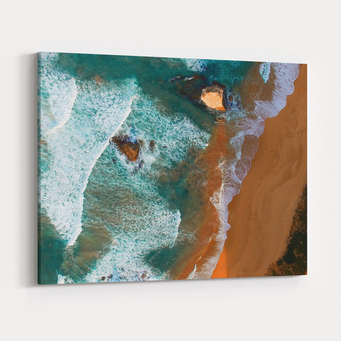 Aerial View Of Twelve Apostles At Dawn, Australia Canvas Wall Art Print