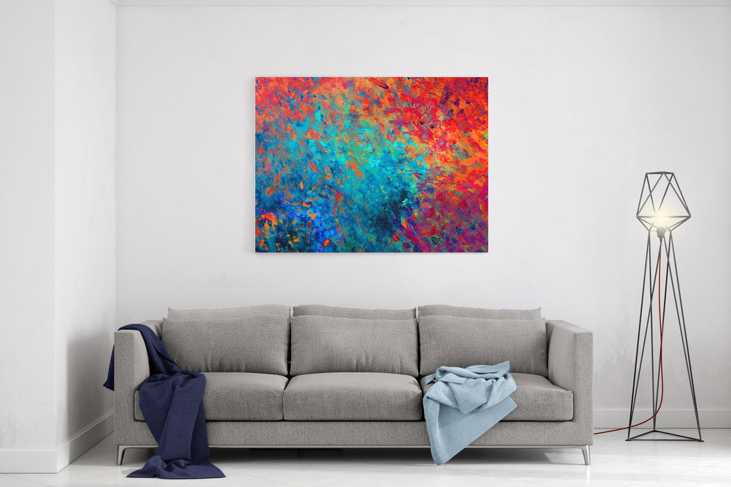 Colorful Background Oil Painting For Your Business Can Be Used For Advertising, Print On Fabric, Notes, Web Sites, Banners, Background Design Etc Canvas Wall Art Print