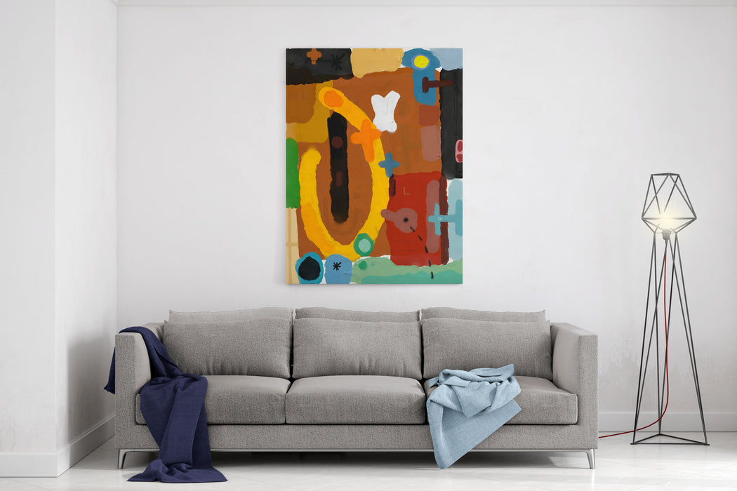 Abstract, Which Consists Of A Plurality Of Color Patches Canvas Wall Art Print