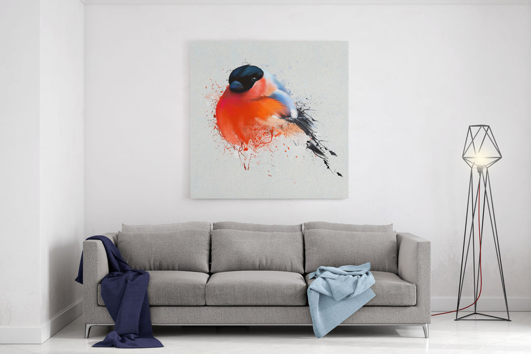 Pyrrhula A Vivid Illustration Of Bullfinch, Close Up, With Elements Of  TheSketch And Spray Paint, With Elements Of The Sketch And Spray Paint,  IdealAs