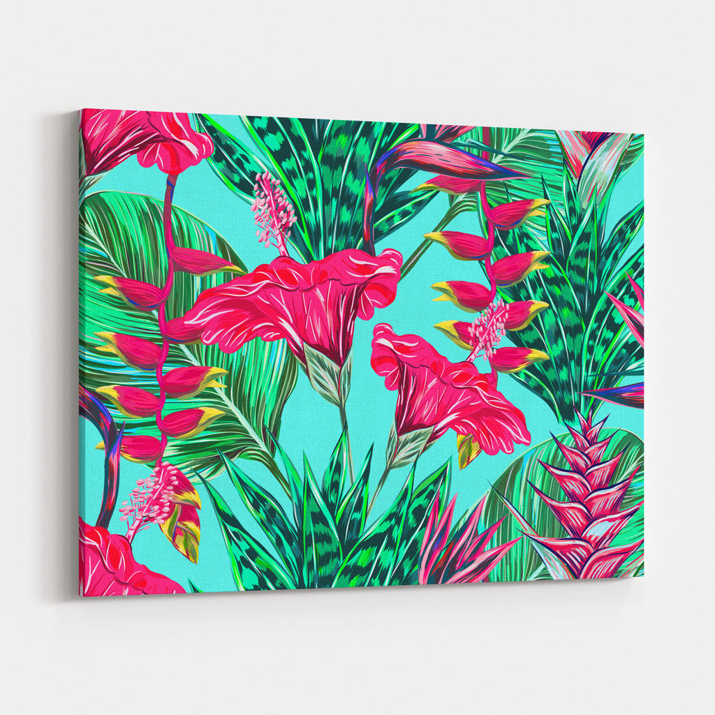 Beautiful Seamless Vector Floral Pattern Background Tropical