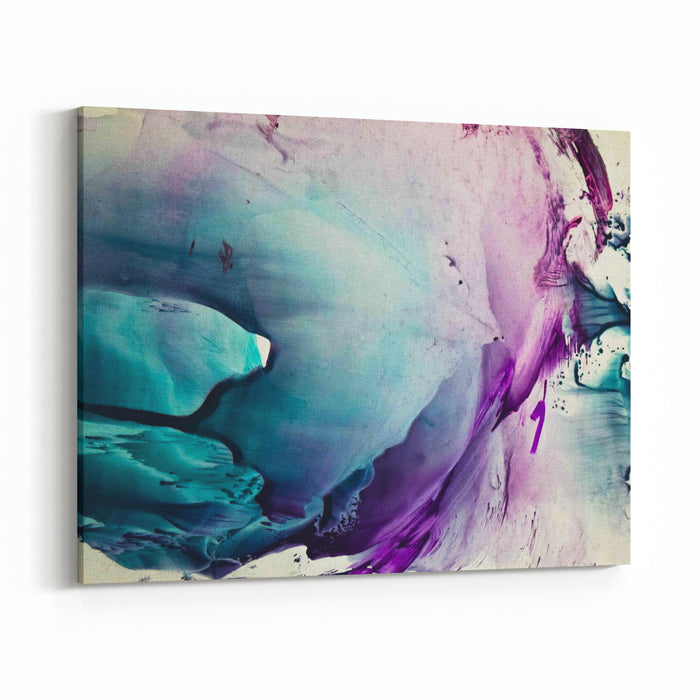 Watercolor Colorful Splash Isolated On White Background Canvas Wall Art Print
