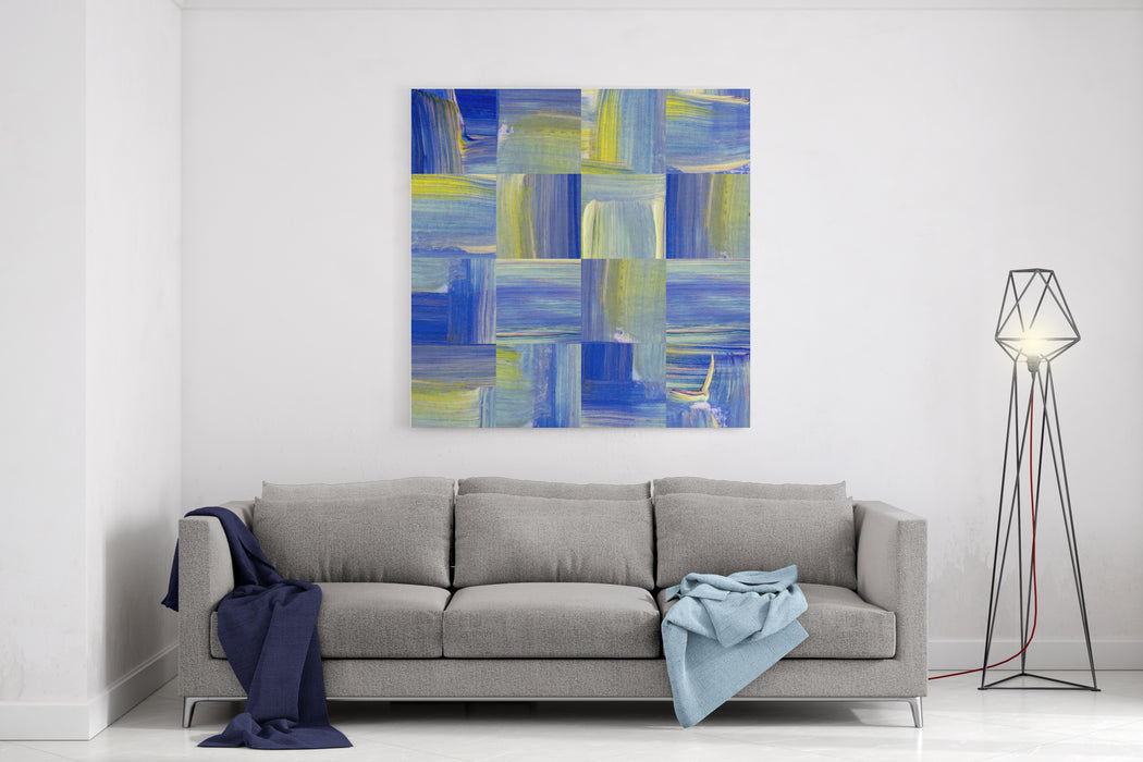Abstract Geometric Seamless Acrylic Background Canvas Wall Art Print