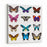Big Collection Butterfly Of Colorful Icon Set Art Butterflies Isolated OnWhite Vector Illustration Canvas Wall Art Print