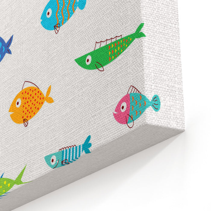 Cute Fish Vector Collection Canvas Wall Art Print