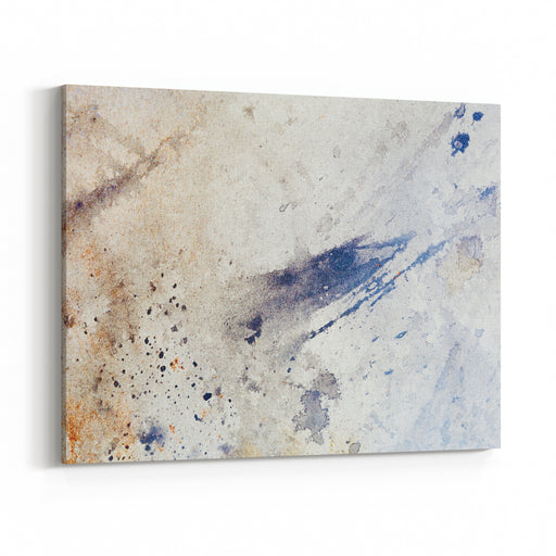 Abstract Painting With Blurry And Stained Structure Canvas Wall Art Print