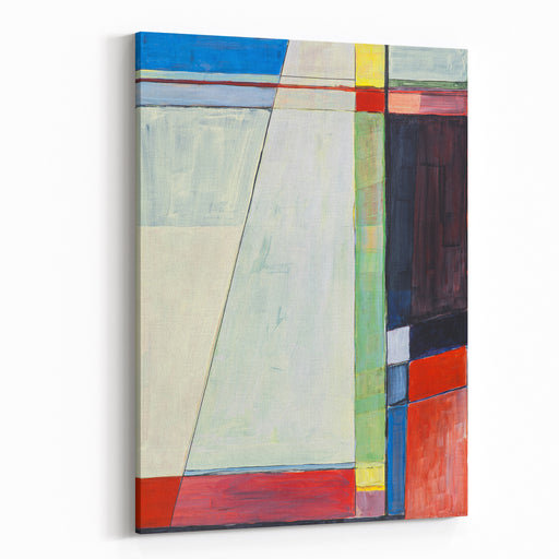 A Study For A Geometric Abstract Painting Canvas Wall Art Print