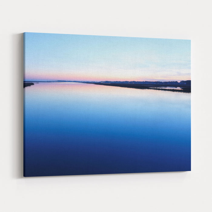 Chincoteague National Wildlife Refuge After Sunset, Virginia, USA Canvas Wall Art Print