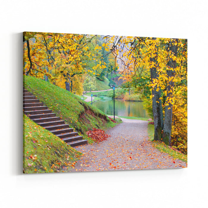 Cesis Is Beauty City In Latvia Where Medieval History Meets With Marvelous Scenic Landscapes Canvas Wall Art Print