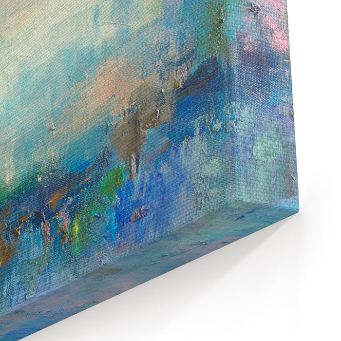 Abstract Oil  Painting Background Oil On Canvas TextureHand Drawn Oil PaintingColor Texture Fragment Of Artwork Brushstrokes Of Paint Modern Art Contemporary Art Colorful Canvas Canvas Wall Art Print
