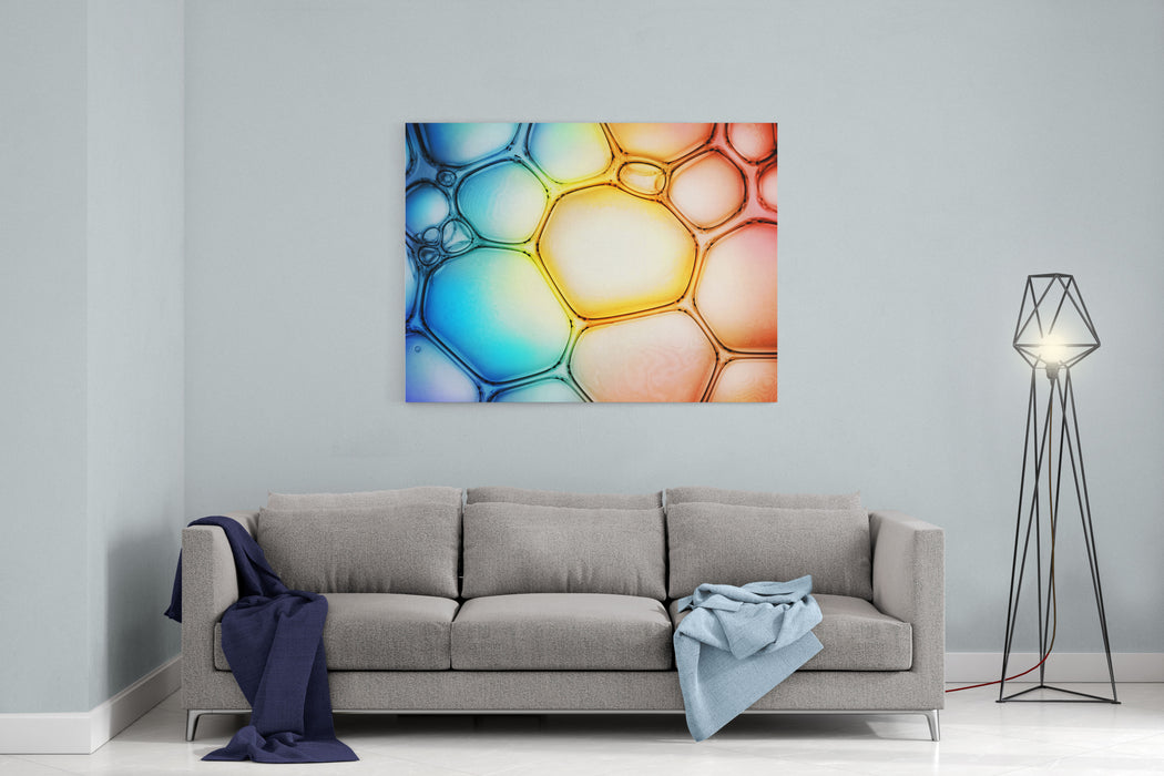 Bubble Background Canvas Wall Art Print
