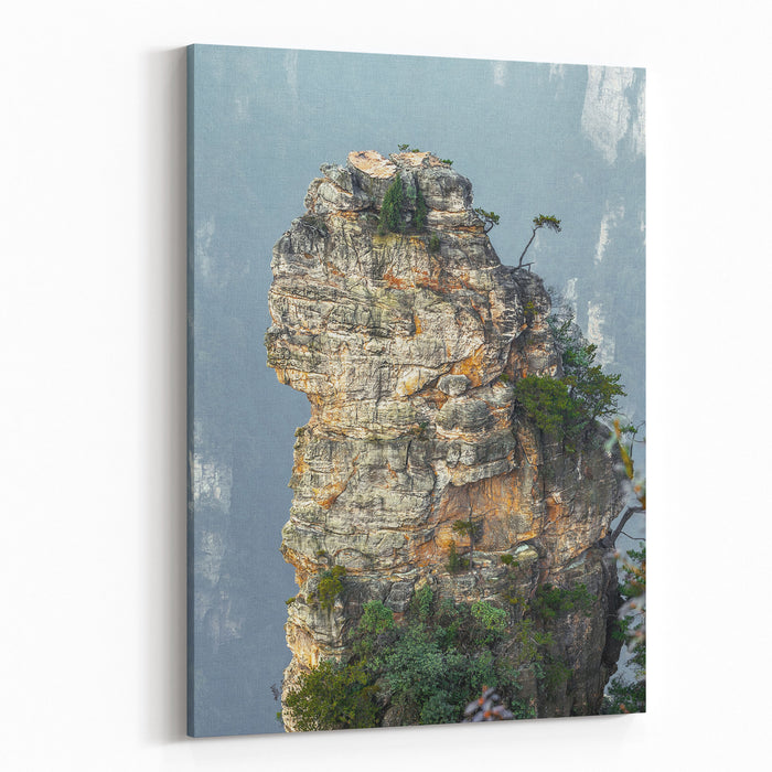 Alone Rock Column Mountain Avatar Rocks Zhangjiajie National Forest Park Was Officially Recognized As A UNESCO World Heritage Site  China Canvas Wall Art Print