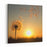 Dandelion Against The Backdrop Of The Setting Sun Lightness Concept Canvas Wall Art Print