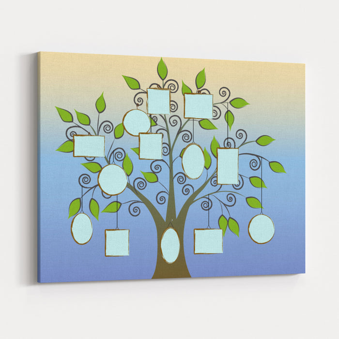 Make Your Family Tree Canvas Wall Art Print