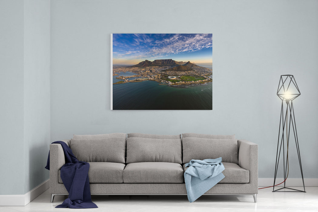 Table Mountain Sunset Canvas Wall Art Print