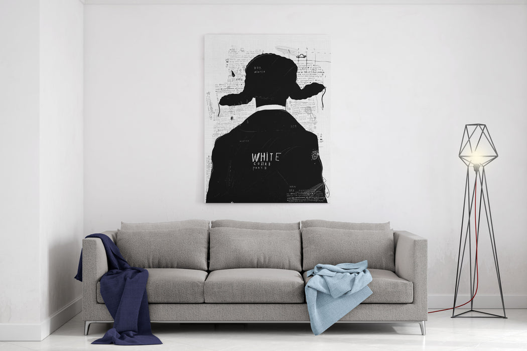 The Symbolic Image Of A Man In A Winter Cap Canvas Wall Art Print