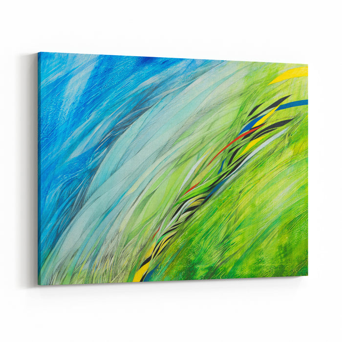 Abstract Painting Handmade Abstract Background Painting Canvas Wall Art Print