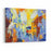 An Original Oil Painting On Canvas Cubism Style, Part Of Cubism LandscapesCollection, Just An Ordinary Day In The City, Urban, City Life, Canvas Wall Art Print