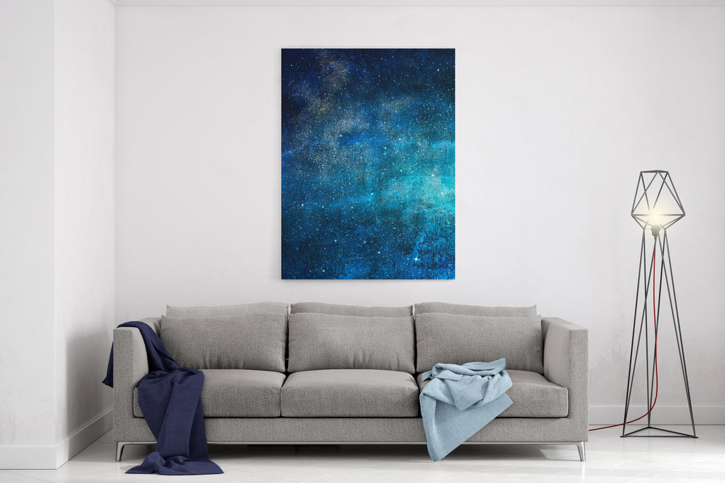 Magic Universe Filled With Stars Watercolor Canvas Wall Art Print