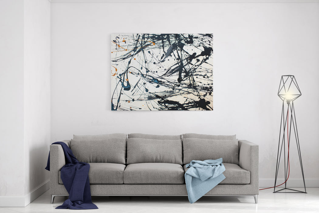 Abstract Art Creative Background Hand Painted Background Canvas Wall Art Print